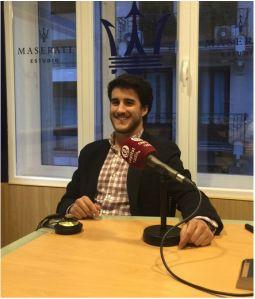 Javier Sanchez en el estudio de Capital Radio